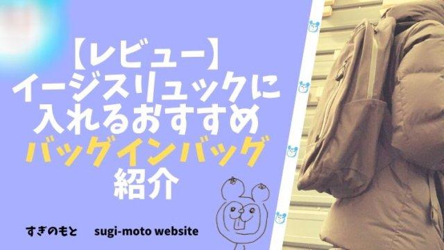 【レビュー】イージスリュックに入れるおすすめバッグインバッグ紹介
